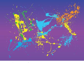 Salpicaduras de pintura de neón de colores