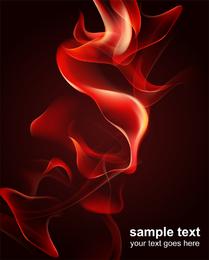 Roter Rauch-Flammen-Vektor 2