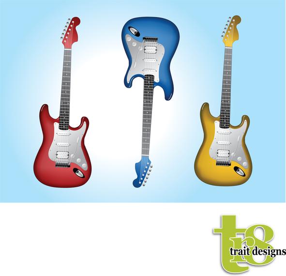 Guitarras Electricas Descargar Vector