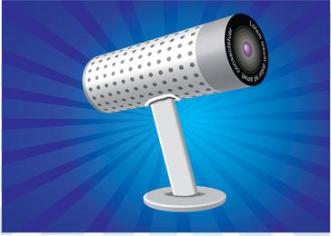 Ilustração da webcam