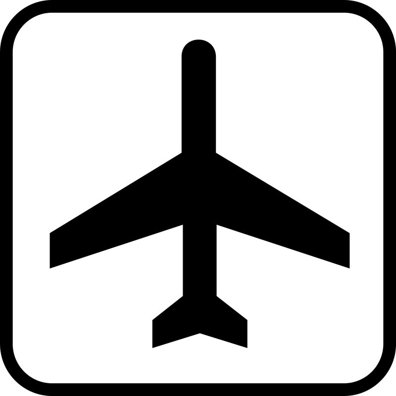 Airport Sign Board Vector on Airplane Clip Art Transparent