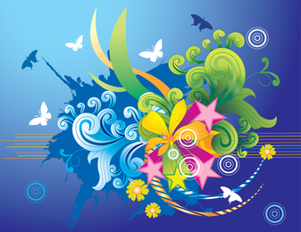 Beautiful Vector Paradise Wallpaper Design Vector Paradise Eps Illustrator