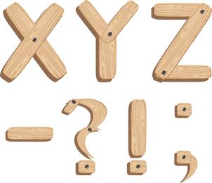 Fuentes de vectores Grano de madera Inglés