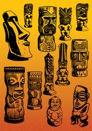 Exotic Statue Set