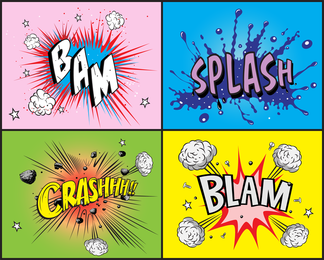 Comic Style Element Vector