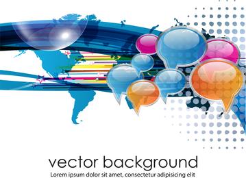 Concepto de negocio Diálogo Vector de tendencia 1
