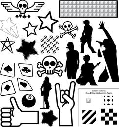 Recursos vectoriales Parte 4 Colección Punk 2