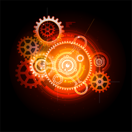 Gear Theme abstract illustration