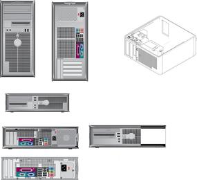 Vielzahl von Computer-Produkt-Strichzeichnungs-Vektor