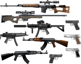 Liebe die Waffe Vektor