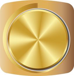 Gold Volume Knob 01 Vector