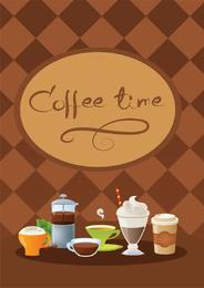 Café tiempo vector 2