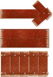 Holzschilder zeigen Vektor an