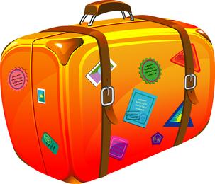 Koffer Thema Vektor