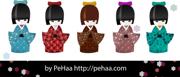Kokeshi Dolls 2