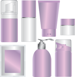 Blank Skin Care Products Cosmetics Packaging Vector