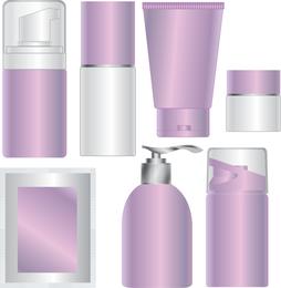 Productos para el cuidado de la piel en blanco Cosméticos vector de embalaje