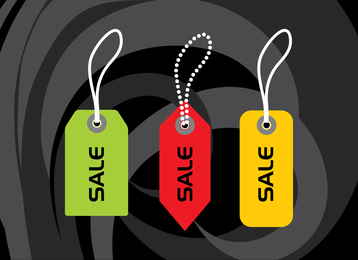Tag Vector Material Gifts Such As Scissors