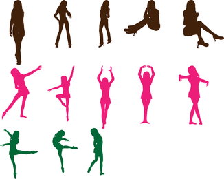 Paquete de vectores de baile