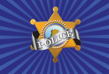 Vector policía insignia