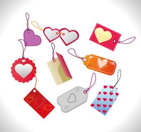 Etiquetas de ventas del día de San Valentín