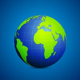 Ilustración de Vector de conexión azul y verde de globo moderno
