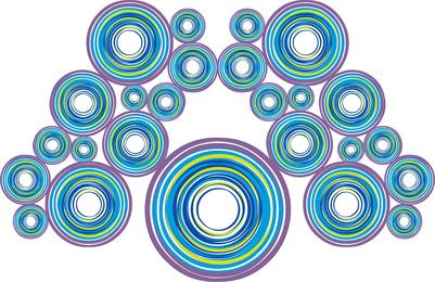 Fundo de círculos de pavão