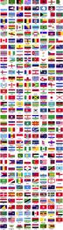 Banderas del mundo ordenadas alfabéticamente