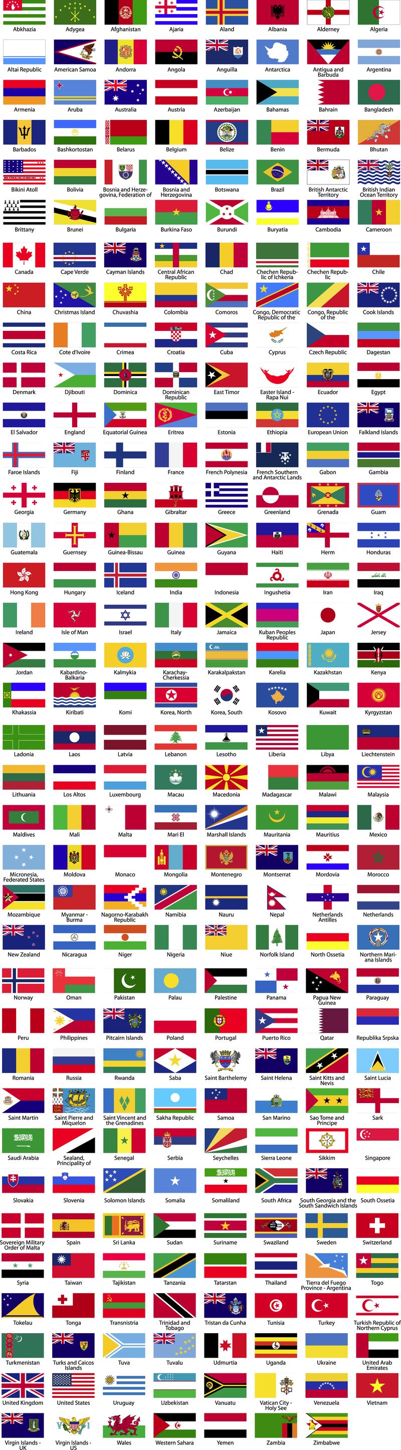 banderas del mundo y nombres