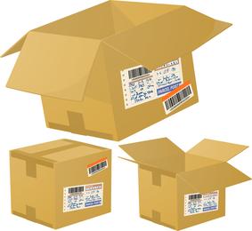 Logística E Express Cartons Especiais 01 Vector