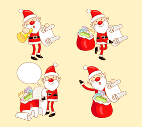 Happy Santa Claus Vector Illustration