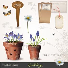 Gartenarbeit-Thema 01 Vektor