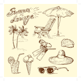 Handdrawn Style Vector Goods Of Life