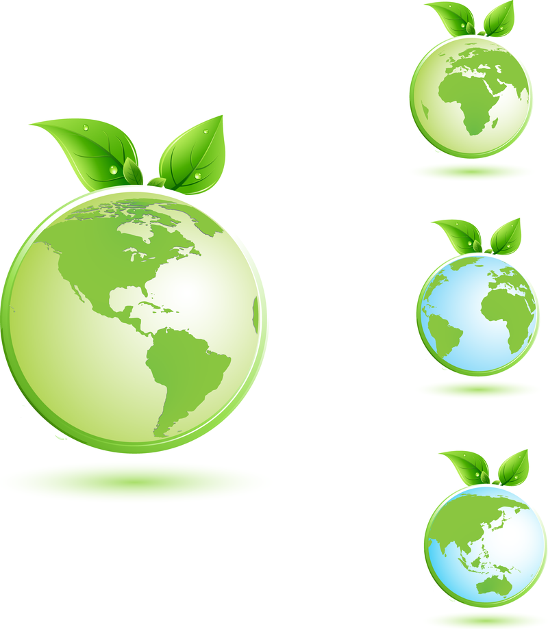 Green Earth Illustration - Vector download Green Earth Logo Vector