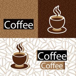 Ilustração de xícaras de café com padrão