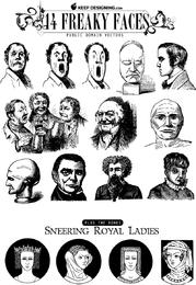 14 Freaky Faces Arte vetorial