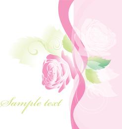Hermosas Rosas Tarjetas de Felicitación 01 Vector