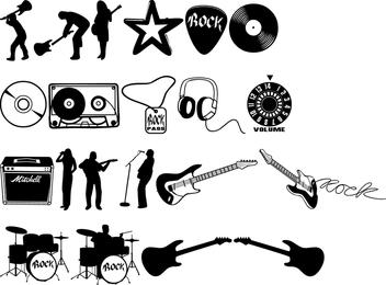 Conjunto de vetores de rock