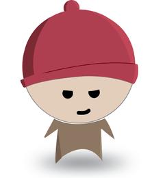 Isolated child illustration design