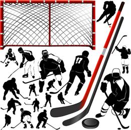 Hockey Vector del jugador