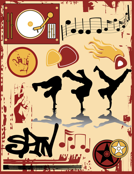 The Trend Of Musical Elements Vector
