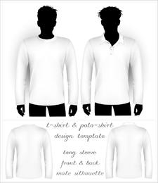 Camiseta de camiseta en blanco y Polo Vector