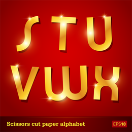 Glittering Letters Of The Alphabet 05 Vector