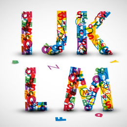 Las letras creativas diseñadas 07 Vector