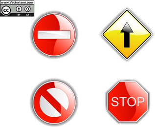 4 Traffic Signs Vector