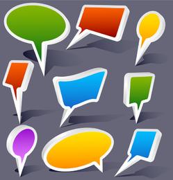 Dialog Colorful Threedimensional Vector