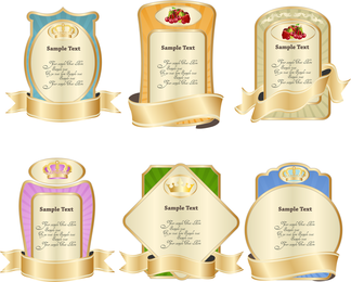 Label with ribbon template set