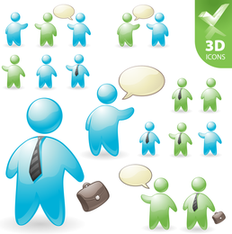 User Roles And Pentacle 3d Vector