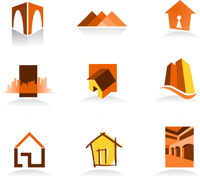real estate logo template vector vector download