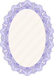 Marco de espejo ovalado en azul
